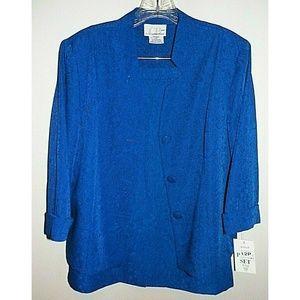 Women's 12P Jacket 10P Skirt Suit Blue CB Collecti